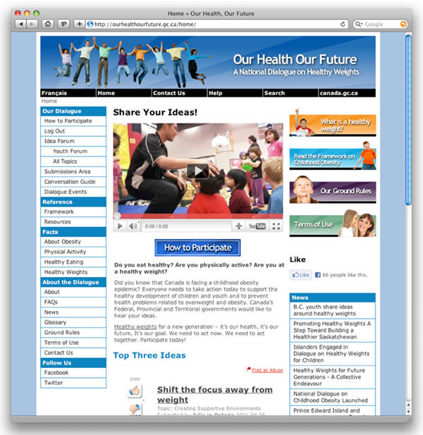 Our Health Our Future engagement website homepage