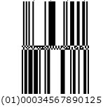 Example of a GS1 Databar (2D bar code)